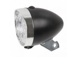 Světlo přední Anlun 3 LED, černé/chrom