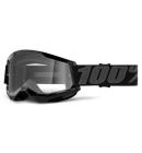 Brýle 100% STRATA 2 Goggle Black - Clear Lens