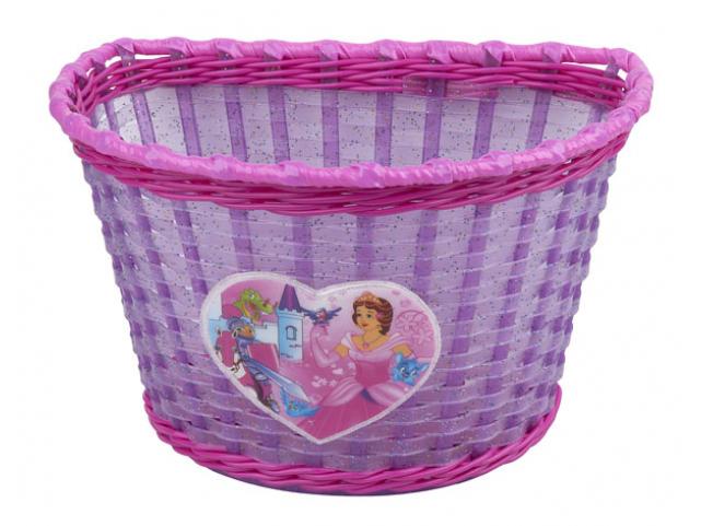 Košík na řídítka dětský PRO-T Girl Fialovo Růžový