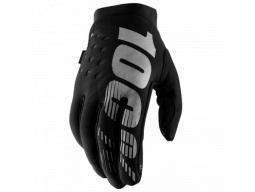 "Rukavice 100% ""BRISKER"" 100% Glove Black/Grey"
