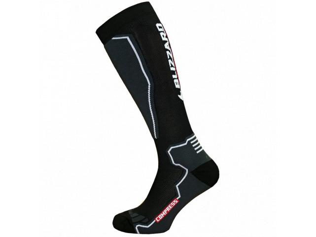 Ponožky Blizzard COMPRESS 85 Ski Socks Black Grey
