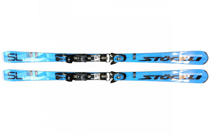 Lyže Stöckli Laser SL + Salomon NSP12Ti blue/bk + STOE Speedplate15, model 17/18