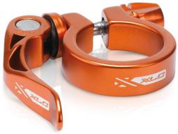 Podsedlová objímka XLC PC-L04 prům.34,9 mm, oranžová, s rychloupínákem