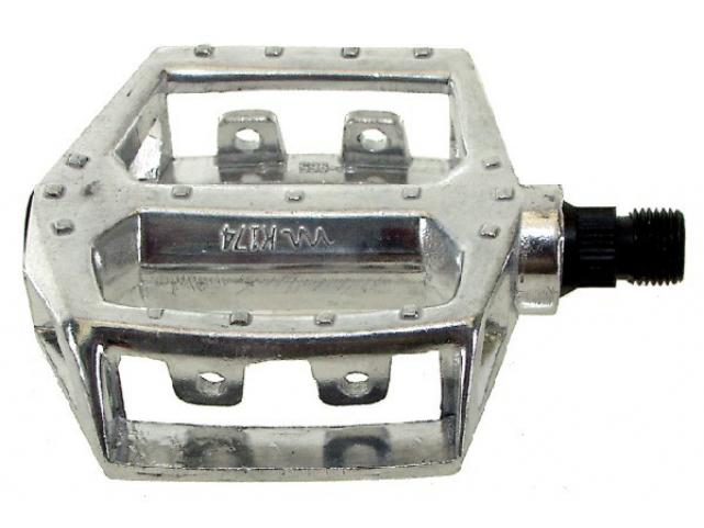 Pedály BMX Al stříbrný s 1/2 oskou