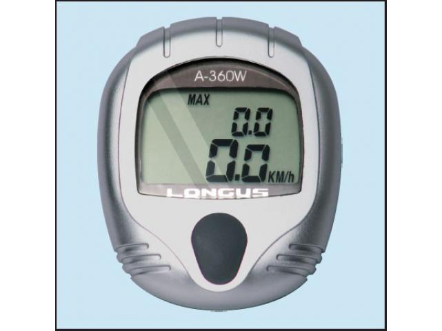 Cyklocomputer Longus A-360W, 11F, stříbrný, bezdrátový