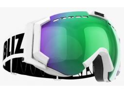 Lyžařské brýle Bliz CARVER SR OTG Matt White Brown with green multi, model 2017/18