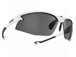 Sluneční brýle Bliz MOTION + Shiny White Smoke w Silver Mirror Cat.3+Clear+Orange
