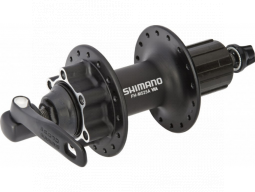 Nába zadní Shimano DEORE FH-M525 pro kotouč (6 šroub) 8/9/10 rychl 32 děr RU: 168 mm černá