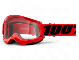 Brýle 100% STRATA 2 Goggle Red - Clear Lens
