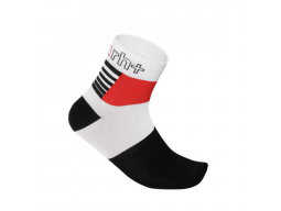 Ponožky RH+ ZETA Sock 9 White Black Red