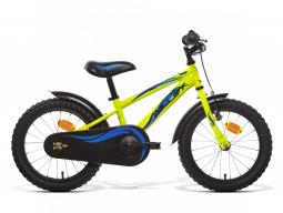 dětské kolo AMULET Mini 16, yellow shine, steel frame, 2020