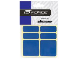 Nálepky FORCE 3M 6ks reflexní modré