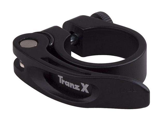 Objímka podsedlová Tranz-X s rychloupínákem,průměr 34.9 černá
