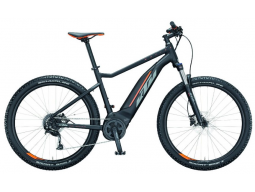 Elektrokolo KTM MACINA RIDE 271 black matt(grey+orange), 2021