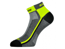 Ponožky Silvini Plima UA622 Charcoal-Neon
