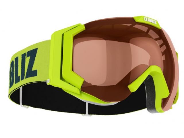 Lyžařské brýle BLIZ CARVER SF OTG Limegree, Orange, model 2016/17