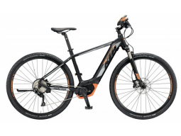 Elektrokolo KTM MACINA CROSS 10 PT-CX5I4 Black matt (grey+orange), 2019