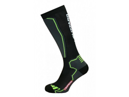 Ponožky Blizzard Compress 85 ski socks, black/yellow
