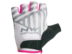 Rukavice Northwave Flag Woman White/Pink Fluo
