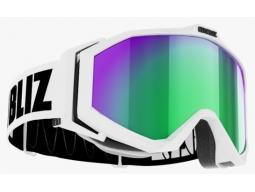 Lyžařské brýle Bliz EDGE Matt White Brown with Green Multi, model 2017/18