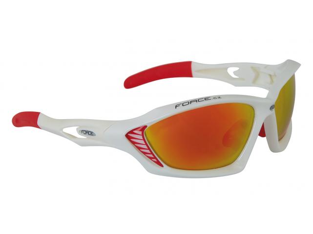 Brýle Force MAX White červená skla