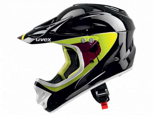 Helma Uvex DOWNHILL Black Lime Shiny model 2012