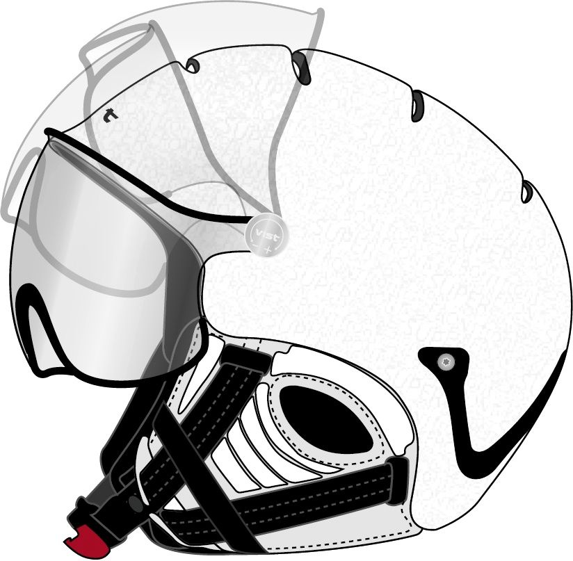 Helma VIST SUPERMOUNTAIN White Black Clear Mirror model 2012/13