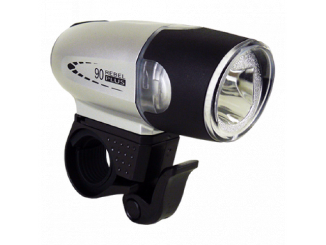 Světlo přední MOON SHL-06L Luxeon LED 90lm stříbrné