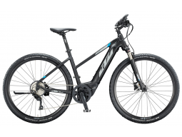 Elektrokolo KTM MACINA CROSS 510 500Wh black matt (grey +blue), 2020, dámské