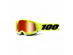 Brýle 100% RACECRAFT 2 Yellow - Mirror Red Lens