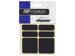 Nálepky FORCE 3M 6ks reflexní černé