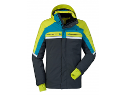 Bunda Schöffel Ski Jacket Bergamo1 Grey/Green, model 2017/18