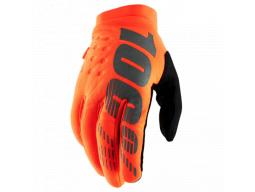 "Rukavice 100%  ""BRISKER"" 100% Glove Fluo Orange/Black"