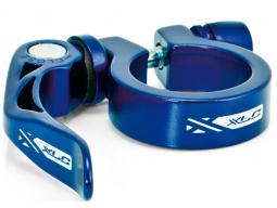 Podsedlová objímka XLC PC-L04 prům.34,9 mm, modrá, Al, s rychloupínákem