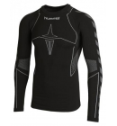 Triko Hummel HERO BASELAYER pánské Black Dark Grey