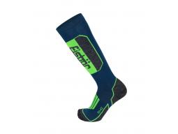 Ponožky Eisbär SKI TECH LIGHT petrol/neon green
