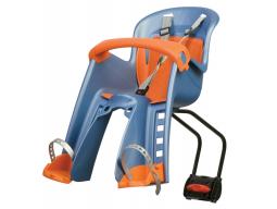 Dětská sedačka POLISPORT Bilby Junior přední (zadní uchycení) modro oranžová