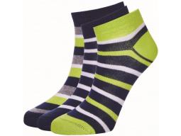ponožky AUTHORITY Ankle Socks 3pck, stripe fun