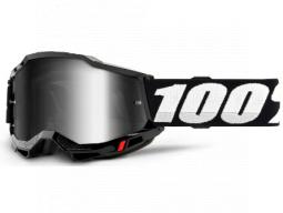 Brýle 100% ACCURI 2 Goggle Black - Mirror Silver Lens