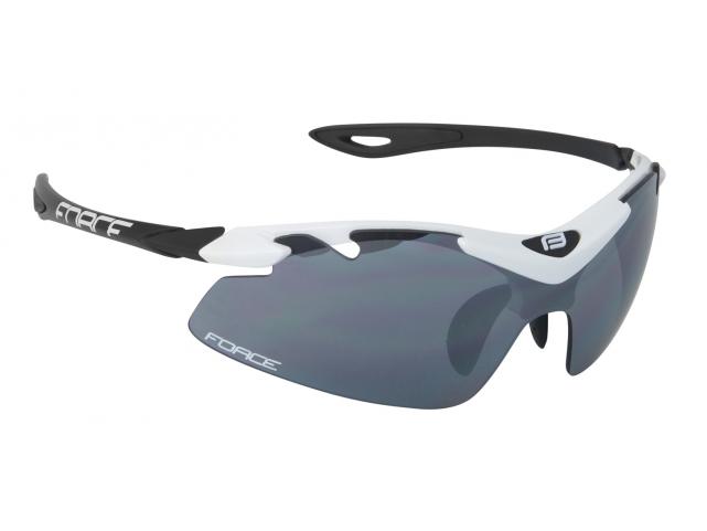 Brýle Force DUKE White Black černá laser skla