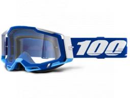 Brýle 100% RACECRAFT 2 GOGGLE BLUE - CLEAR LENS