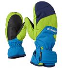 Rukavice Ziener LIZZARDOLO AS® MITTEN Junior, zeleno-modré
