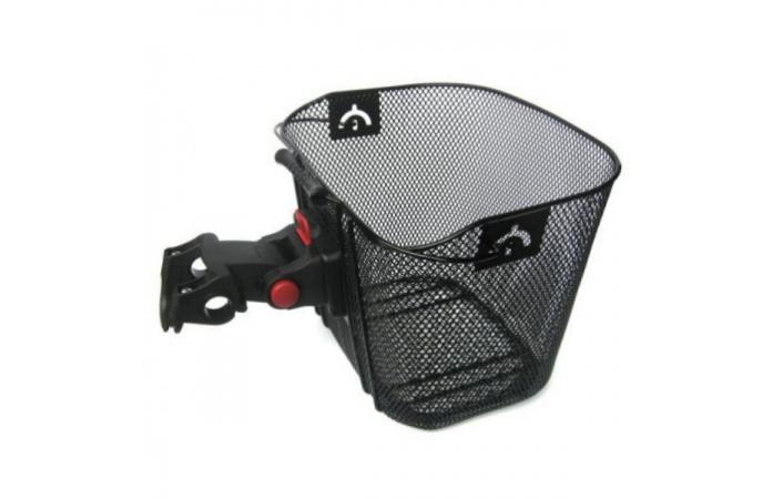 Košík přední dětský ocelový na řidítka 25,4-31,8mm černý