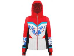 Bunda Poivre Blanc Ski Jacket Scarlet Red3/Flower Multi, 19/20