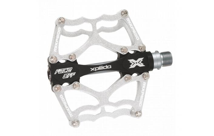Pedály X-Pedo FACE OFF stříbrné