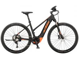 Elektrokolo KTM MACINA CROSS 620 625Wh black matt (orange),  2020
