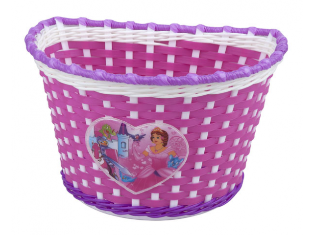 Košík na řídítka dětský PRO-T Girl Růžovo Bílo Fialová