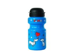 Dětská láhev DEMA modrá 330ml s držákem