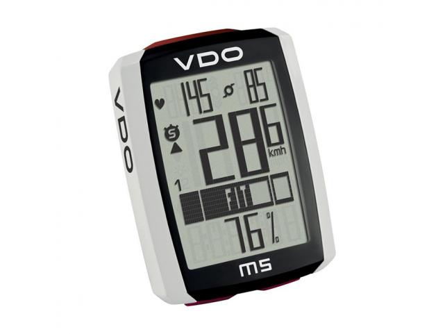 Cyklocomputer VDO M5 WL - bezdrátový, digitální, s měřením tepu