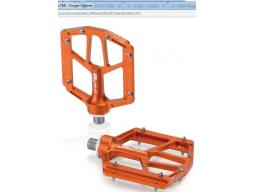 Pedály XLC PD-M14 Al, oranžová